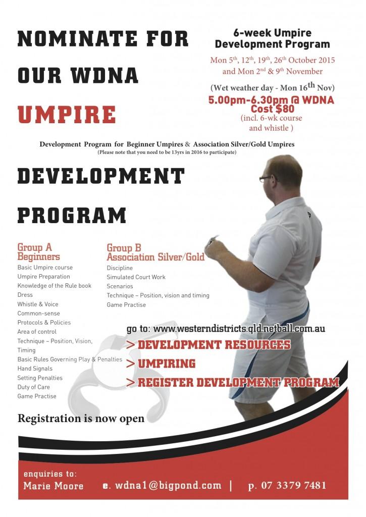 2015 Umpire Development Flyer